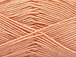 Fiber Content 50% Acrylic, 50% Bamboo, Light Salmon, Brand ICE, Yarn Thickness 2 Fine  Sport, Baby, fnt2-53096
