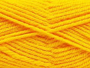 Fiber Content 100% Acrylic, Yellow, Brand ICE, Yarn Thickness 5 Bulky  Chunky, Craft, Rug, fnt2-53185
