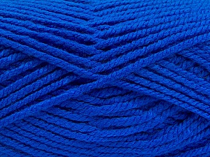 Fiber Content 100% Acrylic, Brand Ice Yarns, Bright Blue, Yarn Thickness 5 Bulky  Chunky, Craft, Rug, fnt2-53189