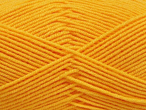 Fiber Content 50% Bamboo, 50% Acrylic, Yellow, Brand Ice Yarns, Yarn Thickness 2 Fine  Sport, Baby, fnt2-53331