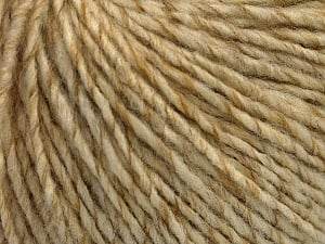 Fiber Content 50% Wool, 50% Acrylic, Brand ICE, Cream melange, Yarn Thickness 4 Medium  Worsted, Afghan, Aran, fnt2-53616