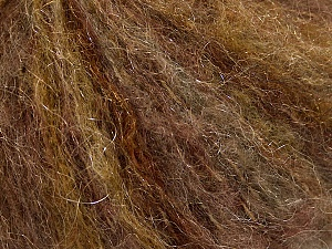 Fiber Content 39% Polyamide, 27% Acrylic, 21% Mohair, 13% Wool, Brand ICE, Brown Shades, Yarn Thickness 3 Light  DK, Light, Worsted, fnt2-53673