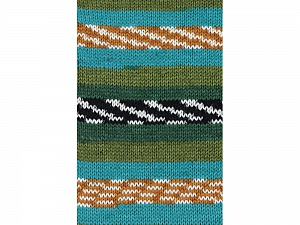 Fiber Content 100% Acrylic, White, Turquoise, Brand ICE, Green Shades, Gold, Yarn Thickness 4 Medium  Worsted, Afghan, Aran, fnt2-53779
