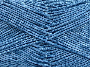 Fiber Content 100% Mercerised Cotton, Jeans Blue, Brand ICE, Yarn Thickness 2 Fine  Sport, Baby, fnt2-53794