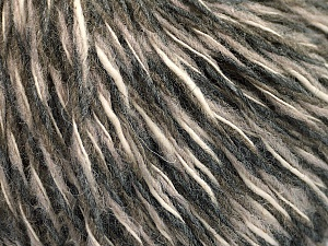 Fiber Content 50% Wool, 50% Acrylic, Light Pink, Brand ICE, Grey Shades, Cream, Yarn Thickness 3 Light  DK, Light, Worsted, fnt2-53961