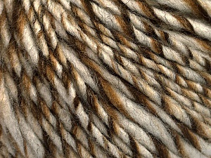 Fiber Content 90% Acrylic, 10% Wool, Brand ICE, Cream, Brown Shades, fnt2-54019