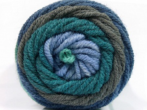 Fiber Content 70% Acrylic, 30% Wool, Teal, Brand ICE, Grey, Blue Shades, Yarn Thickness 5 Bulky  Chunky, Craft, Rug, fnt2-54119