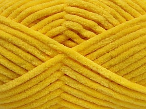 Fiber Content 100% Micro Fiber, Yellow, Brand Ice Yarns, Yarn Thickness 4 Medium  Worsted, Afghan, Aran, fnt2-54149