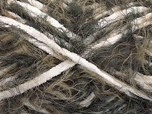 Fiber Content 70% Micro Fiber, 30% Polyamide, White, Brand ICE, Brown Shades, Yarn Thickness 5 Bulky  Chunky, Craft, Rug, fnt2-54197