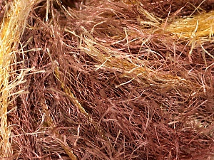 Fiber Content 100% Polyester, Brand ICE, Gold, Brown, Yarn Thickness 5 Bulky  Chunky, Craft, Rug, fnt2-54424