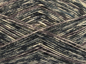 Fiber Content 75% Superwash Wool, 25% Polyamide, Brand ICE, Grey Shades, Cream, Yarn Thickness 1 SuperFine  Sock, Fingering, Baby, fnt2-54431