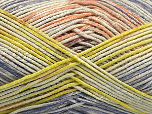 Fiber Content 50% Cotton, 50% Acrylic, Salmon, Lilac, Light Green, Brand ICE, Yarn Thickness 2 Fine  Sport, Baby, fnt2-54484