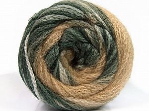 Fiber Content 90% Acrylic, 10% Polyamide, Brand ICE, Grey Shades, Cream, Beige, Yarn Thickness 4 Medium  Worsted, Afghan, Aran, fnt2-54521