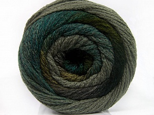 Fiber Content 90% Acrylic, 10% Polyamide, Brand ICE, Grey Shades, Green Shades, Yarn Thickness 4 Medium  Worsted, Afghan, Aran, fnt2-54523