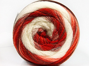 Fiber Content 90% Acrylic, 10% Polyamide, White, Red Shades, Orange Shades, Brand ICE, Yarn Thickness 4 Medium  Worsted, Afghan, Aran, fnt2-54527