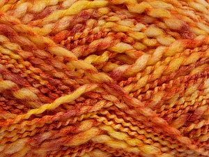 Fiber Content 60% Superwash Wool, 40% Acrylic, Yellow, Pink, Orange, Brand ICE, Yarn Thickness 5 Bulky  Chunky, Craft, Rug, fnt2-54566