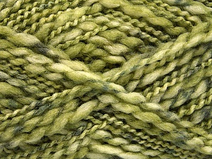 Fiber Content 60% Superwash Wool, 40% Acrylic, Brand ICE, Green Shades, Yarn Thickness 5 Bulky  Chunky, Craft, Rug, fnt2-54567