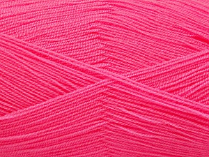 Very thin yarn. It is spinned as two threads. So you will knit as two threads. Yardage information is for only one strand. Fiber Content 100% Acrylic, Pink, Brand Ice Yarns, Yarn Thickness 1 SuperFine  Sock, Fingering, Baby, fnt2-54713