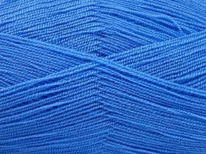 Very thin yarn. It is spinned as two threads. So you will knit as two threads. Yardage information is for only one strand. Fiber Content 100% Acrylic, Indigo Blue, Brand ICE, Yarn Thickness 1 SuperFine  Sock, Fingering, Baby, fnt2-54721
