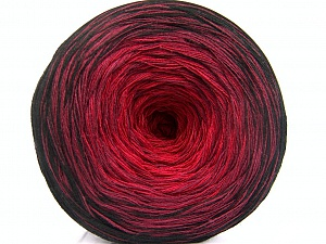 Fiber Content 50% Acrylic, 50% Cotton, Red, Brand ICE, Burgundy, Black, Yarn Thickness 2 Fine  Sport, Baby, fnt2-55062