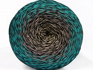 Fiber Content 50% Acrylic, 50% Cotton, Turquoise, Brand ICE, Grey Shades, Green Shades, Black, Yarn Thickness 2 Fine  Sport, Baby, fnt2-55073