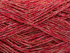 Fiber Content 44% Viscose, 34% Polyester, 22% Cotton, Pink, Brand ICE, Copper, Yarn Thickness 2 Fine  Sport, Baby, fnt2-55134