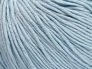 Global Organic Textile Standard (GOTS) Certified Product. CUC-TR-017 PRJ 805332/918191 Fiber Content 100% Organic Cotton, Light Blue, Brand ICE, Yarn Thickness 3 Light  DK, Light, Worsted, fnt2-55217