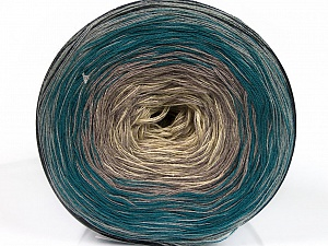 Fiber Content 50% Acrylic, 50% Cotton, Turquoise, Brand ICE, Grey Shades, Cream, Yarn Thickness 2 Fine  Sport, Baby, fnt2-55243
