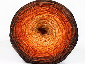 Fiber Content 50% Acrylic, 50% Cotton, Yellow, Orange, Brand ICE, Cream, Brown Shades, Yarn Thickness 2 Fine  Sport, Baby, fnt2-55245