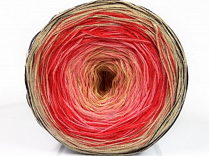 Fiber Content 50% Acrylic, 50% Cotton, Salmon, Pink, Brand ICE, Cream, Beige, Yarn Thickness 2 Fine  Sport, Baby, fnt2-55247