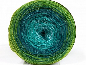 Fiber Content 50% Acrylic, 50% Cotton, Brand ICE, Green Shades, Yarn Thickness 2 Fine  Sport, Baby, fnt2-55252