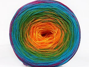 Fiber Content 50% Acrylic, 50% Cotton, Rainbow, Brand ICE, Yarn Thickness 2 Fine  Sport, Baby, fnt2-55256