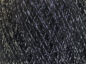Fiber Content 50% Cotton, 30% Acrylic, 20% Metallic Lurex, Silver, Brand ICE, Black, Yarn Thickness 3 Light  DK, Light, Worsted, fnt2-55284