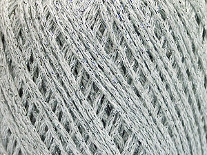 Fiber Content 50% Cotton, 30% Acrylic, 20% Metallic Lurex, Silver, Brand ICE, Yarn Thickness 3 Light  DK, Light, Worsted, fnt2-55289