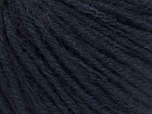 Fiber Content 50% Wool, 50% Acrylic, Brand ICE, Dark Navy, Yarn Thickness 4 Medium  Worsted, Afghan, Aran, fnt2-55344
