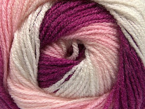 Fiber Content 100% Acrylic, White, Pink, Orchid, Brand ICE, Yarn Thickness 3 Light  DK, Light, Worsted, fnt2-55356