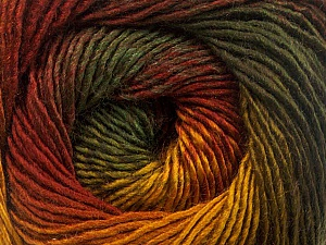Fiber Content 50% Acrylic, 50% Wool, Brand ICE, Gold, Dark Green, Copper, Yarn Thickness 2 Fine  Sport, Baby, fnt2-55458