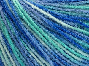 Fiber Content 100% Acrylic, Turquoise, Lilac, Brand ICE, Blue Shades, Yarn Thickness 3 Light  DK, Light, Worsted, fnt2-55614