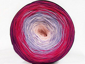 Fiber Content 50% Cotton, 50% Acrylic, Light Lilac, Lavender, Brand Ice Yarns, Fuchsia, Baby Pink, Yarn Thickness 2 Fine  Sport, Baby, fnt2-55675