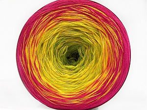 Fiber Content 50% Cotton, 50% Acrylic, Yellow, Brand ICE, Green, Fuchsia, Yarn Thickness 2 Fine  Sport, Baby, fnt2-55677