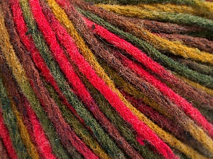 Fiber Content 50% Wool, 50% Acrylic, Brand ICE, Green Shades, Fuchsia, Brown, Yarn Thickness 4 Medium  Worsted, Afghan, Aran, fnt2-55742