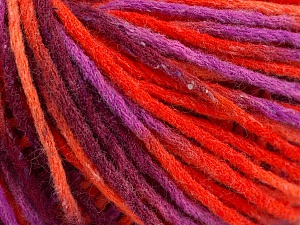 Fiber Content 50% Wool, 50% Acrylic, Orange Shades, Maroon, Lavender, Brand ICE, Yarn Thickness 4 Medium  Worsted, Afghan, Aran, fnt2-55744