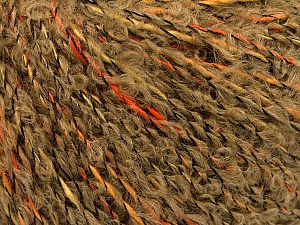 Fiber Content 48% Cotton, 25% Wool, 17% Acrylic, 10% Polyamide, Orange, Brand ICE, Gold, Camel, Yarn Thickness 3 Light  DK, Light, Worsted, fnt2-55771