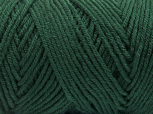 Items made with this yarn are machine washable & dryable. Fiber Content 100% Dralon Acrylic, Brand ICE, Dark Green, Yarn Thickness 4 Medium  Worsted, Afghan, Aran, fnt2-55826