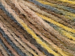 Fiber Content 90% Acrylic, 10% Polyamide, Yellow, Brand ICE, Grey, Camel, Beige, Yarn Thickness 4 Medium  Worsted, Afghan, Aran, fnt2-56037
