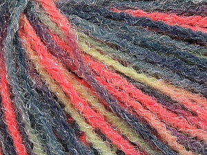 Fiber Content 90% Acrylic, 10% Polyamide, Neon Orange, Mint Green, Brand ICE, Grey Shades, Yarn Thickness 4 Medium  Worsted, Afghan, Aran, fnt2-56043