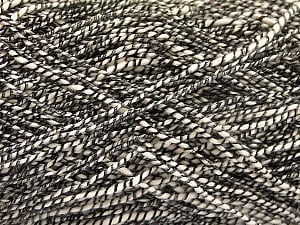 Fiber Content 62% Cotton, 23% Viscose, 15% Polyamide, Brand ICE, Cream, Black, Yarn Thickness 2 Fine  Sport, Baby, fnt2-56157