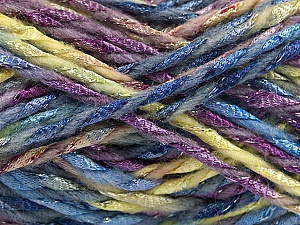 Fiber Content 6% Metallic Lurex, 50% Wool, 44% Polyamide, Purple, Light Green, Brand ICE, Blue, Yarn Thickness 5 Bulky  Chunky, Craft, Rug, fnt2-56182