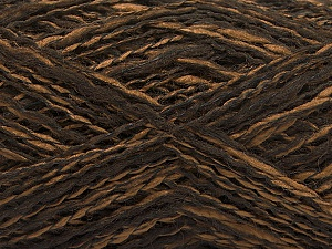 Fiber Content 44% Acrylic, 44% Wool, 12% Polyamide, Brand ICE, Brown Shades, Yarn Thickness 2 Fine  Sport, Baby, fnt2-56189