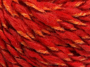Fiber Content 50% Wool, 50% Acrylic, Red, Orange, Brand ICE, fnt2-56314